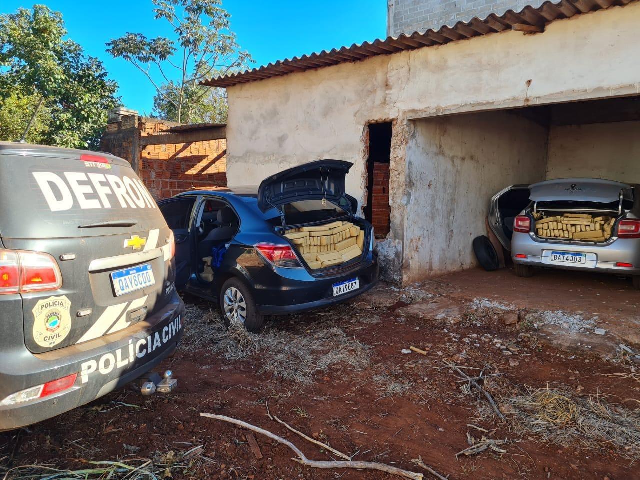 Defron fecha entreposto de drogas do comando vermelho em Dourados